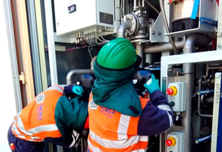 Mantenimiento de sensores de presión y temperatura de sistema hidráulico de freno de molino