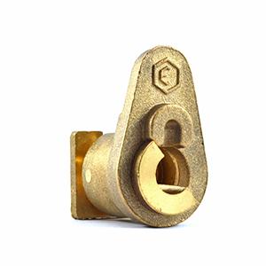 Cerraduras metálicas para seguridad en gabinetes de agua.
